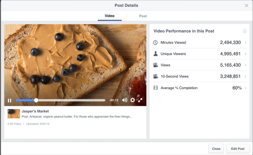 facebook new metric dashboard video