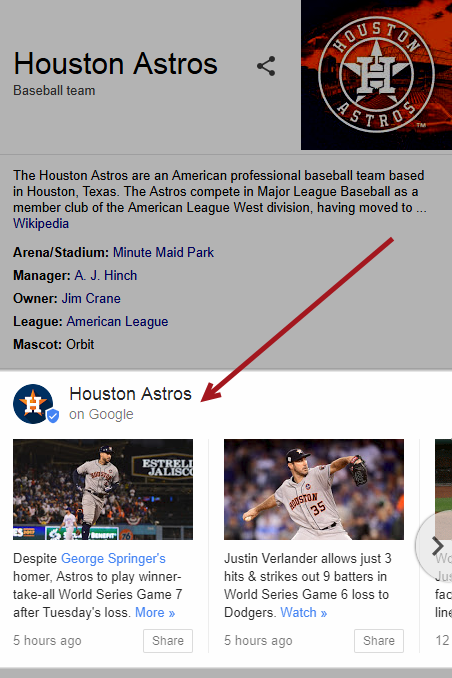 Houston Astros Google Posts