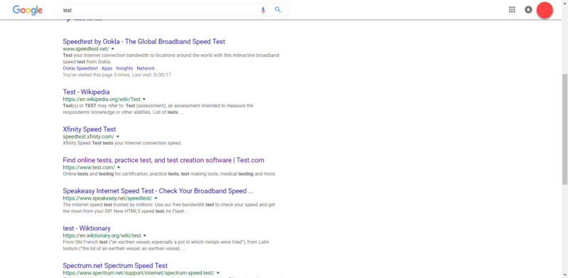 Sticky Header on SERP