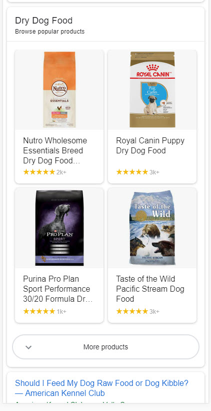 Popular Products on the SERP