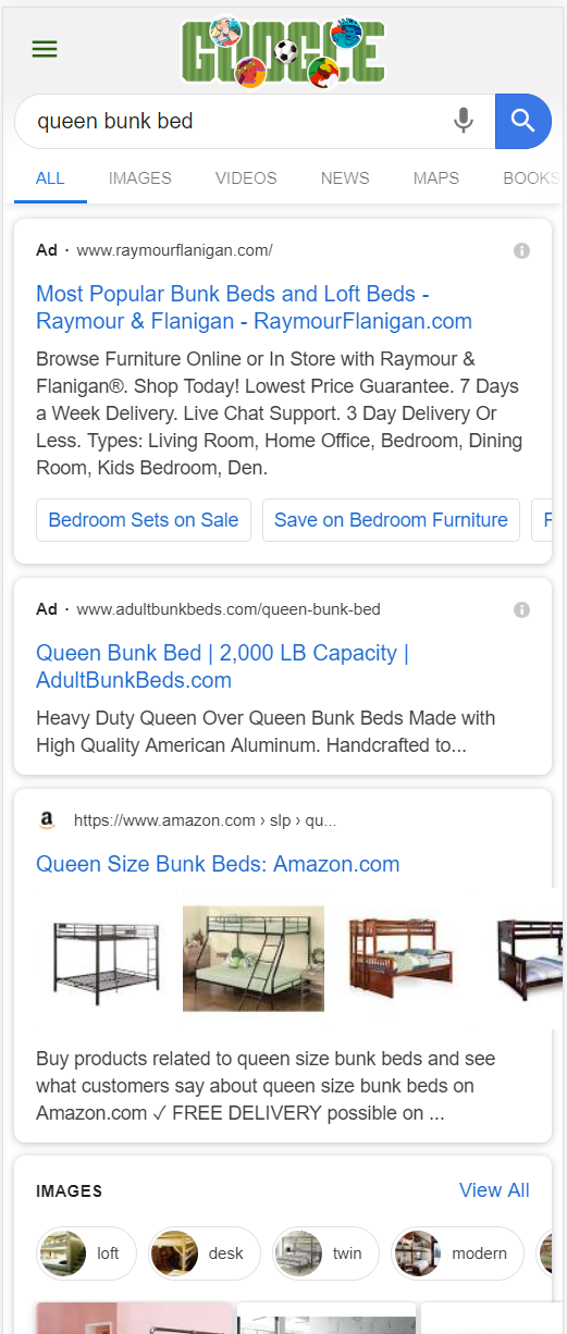 Refined Product SERP