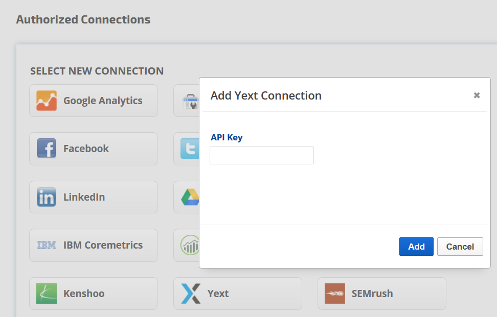 Add Yext API key