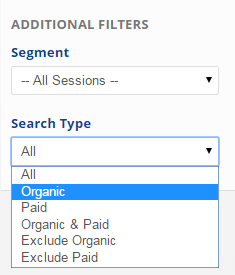 Select a Segment and Search Type