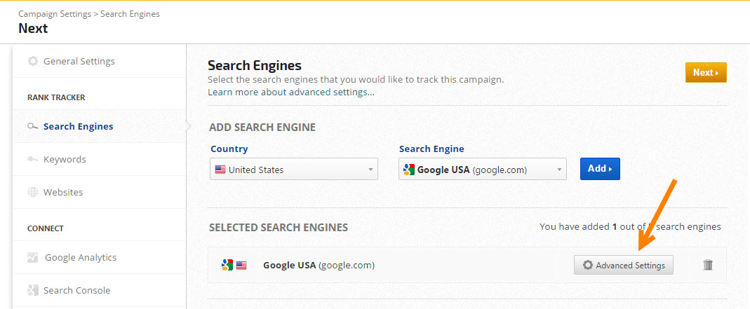 Advanced Search Engine Settings