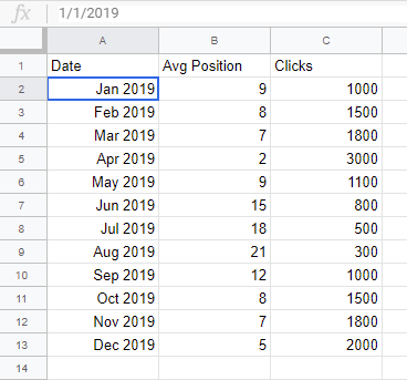 Google Sheet Example