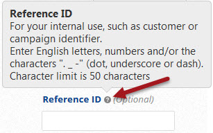 enter a reference ID