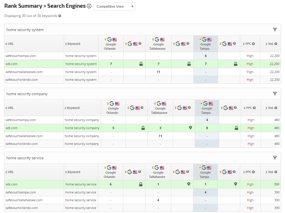 custom search engine names in search engine report