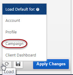 Campaign default settings