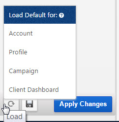 Load Report Default Options