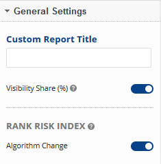 Enter custom title and select algorithm change visibility
