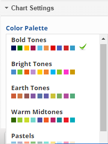 select a chart color scheme