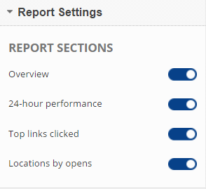 Show or Hide Report Sections