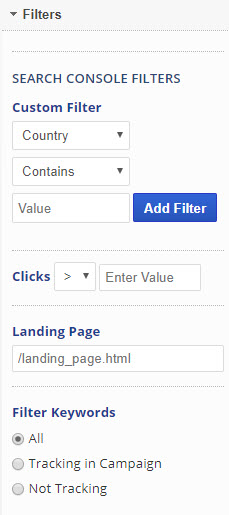 Search Console Filters