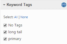 Filter by Keyword Tags