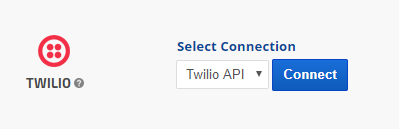 select Twilio connection name