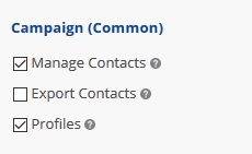 User access to common campaign tools