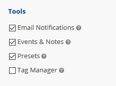 Account Tool Settings