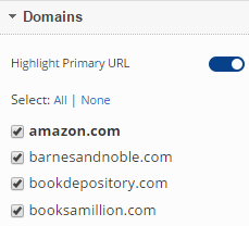 Select Website Domains