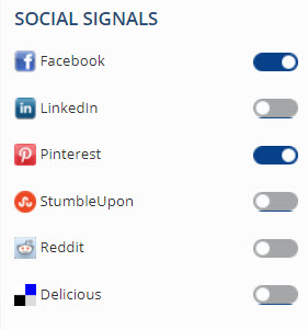 Home Page Metrics Social Signals