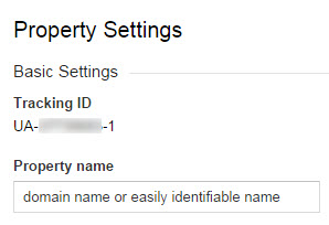 Change Google Analytics Property Name
