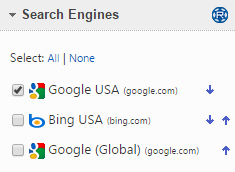 Select a Search Engine